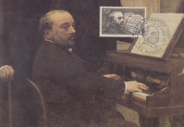 Carte  Maximum    FRANCE   Emmanuel  CHABRIER    AMBERT   1991 - Commemorative Postmarks