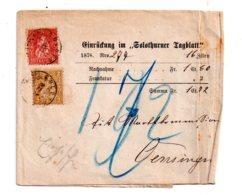 Affranchissement Sur Vieux Papier- Voir état - Poststempel