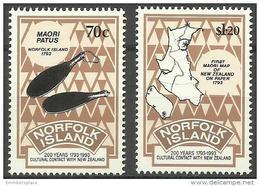 Norfolk Island - 1993 New Zealand Cultural Contact   MNH  **   SG 560-1  Sc 544-5 - Norfolk Island