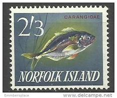 Norfolk Island - 1963 White Trevally 2/3d MNH **   SG 48   Sc 60 - Norfolk Island