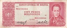 Bolivie - Billet De 100 Pesos Bolivianos - 13 Juillet 1962 - Simon Bolivar - Bolivie