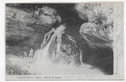 (RECTO / VERSO)  VALLEE DE LA LOUE EN 1903 - SOURCE DU PONTET AVEC PERSONNAGES  - BEAU CACHET - CPA PRECURSEUR VOYAGEE - France