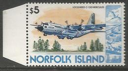 Norfolk Island - 1980 Lockheed Hercules Airplane $5 MNH  **    Sc 271 - Norfolk Island