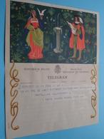 TELEGRAM Voor Fam. DE LAET / BUYTAERT Rupelmonde > V/d Tante Yvonne & Nonkel Fons > 1959 ! - Faire-part