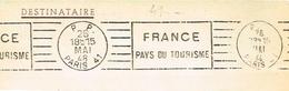 France. France Pays Du Tourisme. 1959 Flamme. Machine RBV. - Poststempel (Briefe)
