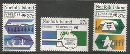 Norfolk Island - 1988 Sydpex 88  MNH  **   SG 444-6   Sc 437-9 - Norfolk Island
