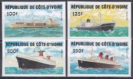 Elfenbeinküste Ivory Coast Cote D'Ivoire 1984 Transport Seefahrt Schiffe Ships Dampfer Steamer, Mi. 830-3 ** Imperf. - Côte D'Ivoire (1960-...)