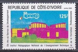 Elfenbeinküste Ivory Coast Cote D'Ivoire 1986 Bildung Education Pädagogik Institut Gebäude Bauwerke Building, Mi. 902 ** - Côte D'Ivoire (1960-...)