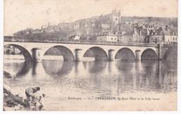 24 Dordogne - TERRASSON -  Le Pont Neuf Et La Ville Haute - Laveuses à La Lessive - Dos Simple - France