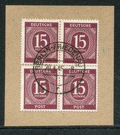 All.Besetzung / Mi. 921 4er-Block Bfst. Steg-Stempel Berlin-Friedenau (18466) - Gemeinschaftsausgaben