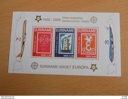 Bloc Feuillet Neuf Suriname 2006 : Cinquantenaire Du Timbre Europa - Europa-CEPT