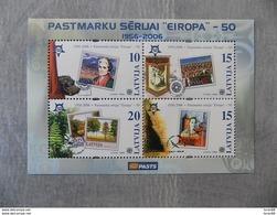 Bloc Feuillet Neuf Lettonie 2006 : Cinquantenaire Du Timbre Europa - Europa-CEPT