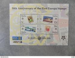 Bloc Feuillet Neuf Malte 2006 : Cinquantenaire Du Timbre Europa - Europa-CEPT