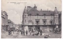 24 Dordogne -  TERRASSON -  Avenue De La Gare Et La Place - 1909 - Autres Communes
