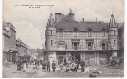 24 Dordogne -  TERRASSON -  Avenue De La Gare Et La Place - 1909 - Frankreich