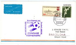 """""""Flug Zur ESPANIA 82"""" Flugpost Frankfurt - Barcelona - 1982 – Espagne"""