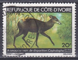 Elfenbeinküste Ivory Coast Cote D'Ivoire 1979 Tiere Fauna Animals Antilopen Antelopes Bucks Ducker, Mi. 598 Gest. - Côte D'Ivoire (1960-...)