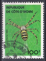 Elfenbeinküste Ivory Coast Cote D'Ivoire 1984 Tiere Fauna Animals Spinnen Spiders Argiope, Mi. 808 Gest. - Côte D'Ivoire (1960-...)