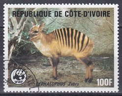 Elfenbeinküste Ivory Coast Cote D'Ivoire 1985 Tiere Fauna Animals Antilopen Antelopes Ducker WWF, Mi. 884 Gest. - Côte D'Ivoire (1960-...)