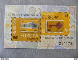 Bloc Feuillet Neuf Islande 2006 : Cinquantenaire Du Timbre Europa - Europa-CEPT
