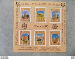 Bloc Feuillet Neuf Kyrgyzstan 2005 : Cinquantenaire Du Timbre Europa - Europa-CEPT