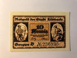 Allemagne Notgeld Lubeck 10 Pfennig - Collections