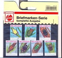 Z-NI  1988  Mi 2894 - 2900 Beetles ... 6  Used Stamps.CTO - Nicaragua