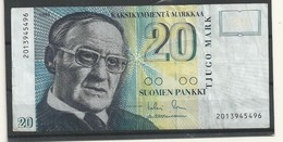 FINLANDE  BILLET 20 MARK  1993 - Finlandia