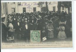 La Roche-sur-Yon-M.Clemenceau, Ministre De L'Interieur,30 Septembre 1906-Le Ministre Inaugurant Le Collège De Jeunes Fil - La Roche Sur Yon