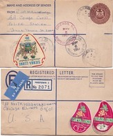 """Sierra Leone 1961 Registered From Freetown To U.S.A> Uprated Item. AM  """"payment Request"""" By """"invoice"""" - Sierra Leone (1961-...)"""