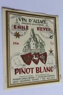 Etiquette Neuve Jamais Servie Vin D Alsace  EMILE BEYER  Pinot Blanc  Eguisheim - Blancs