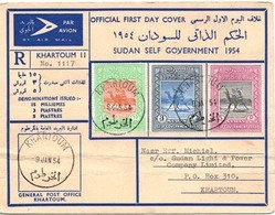"""Sudan 1954 FDC Registered  From Khartoum. Local Usage. Attractive   """"payment Request"""" By """"invoice"""" - Sudan (1954-...)"""