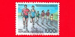 INDONESIA - Usato - 1993 - Piano Di Sviluppo Quinquennale - Corsa - Pelita V - 1000 - Indonesia