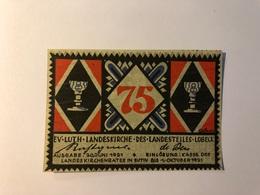 Allemagne Notgeld Lubeck 75 Pfennig - Collections