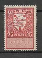 ESTLAND Estonia Ca 1923 Revenue Tax Documentary Stempelmarke 25 Marka O - Estland