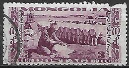 MONGOLIE      -    1932 .  Y&T N° 52 Oblitéré.  Tonte Des Moutons - Mongolie