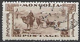 MONGOLIE      -    1932 .  Y&T N° 53 Oblitéré.  Caravane Dans La Steppe - Mongolie