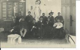 Guerre 1914-Nantes- Soldats Convalescents à L'Hopital Temporaire N 3 Rue Mondesir - War 1914-18