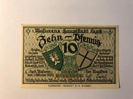 Allemagne Notgeld Luyck 10 Pfennig - Collections