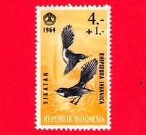 Nuovo - MNH - INDONESIA - 1965 - Uccelli - Birds - Malaysian Pied Fantail (Rhipidura Javanica) - 4,- +1 - Indonesia