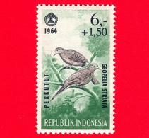 Nuovo - MNH - INDONESIA - 1965 - Fauna - Uccelli - Birds - Zebra Dove (Geopelia Striata) - 6,- +1.50 - Indonesia