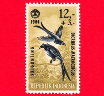 Nuovo - MNH - INDONESIA - 1965 - Fauna - Uccelli - Birds - Black Drongo (Dicrurus Macrocercus) - 12,- +3 - Indonesia