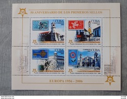 Bloc Feuillet Neuf Cuba 2006 : Cinquantenaire Du Timbre Europa - Europa-CEPT
