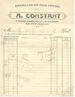 Facture 1914 / 43 LE PUY / Fabrique De Dentelles A. CONSTANT - France