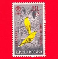 Nuovo - MNH - INDONESIA - 1965 - Fauna - Uccelli - Birds - Black-naped Oriole (Oriolus Chinensis) - 20,- +5 - Indonesia