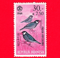 Nuovo - MNH - INDONESIA - 1965 - Fauna - Uccelli - Birds - Java Sparrow (Padda Oryzivora) - 30,- +7.50 - Indonesia