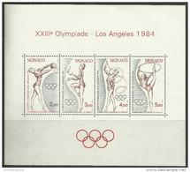 Monaco - 1984 Los Angeles S/sheet  MNH **   SG 1645  Sc 1418 - Blocks & Sheetlets