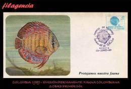AMERICA. COLOMBIA SPD-FDC. 1989 EMISIÓN PERMANENTE. FAUNA COLOMBIANA. PEZ DISCO - Colombia