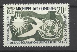Comores  Poste N° 15   Neuf *  TB                   Soldé à Moins De 20 %   ! - Unused Stamps