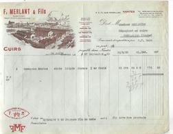 Facture 1933 / 44 NANTES / Cuirs, Croupons F. MERLANT / 25 Pontarlier Pelletier - France